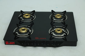 QUBA 4 Burner Gas Stove BB (Black Body )