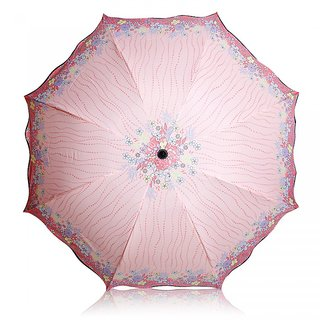 SAMA PINK FLOWER UMBRELLA-001