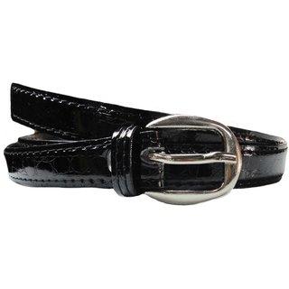 Stylish Glossy Women/Ladies Black Belt
