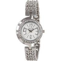 Timebre Round Dial Silver Metal Strap Womens Quartz Watch