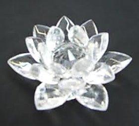 Astrology Goods Crystal Lotus Flower - Decoration Gift Feng Shui 1225