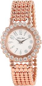 Timebre Appealing Women Rose Gold Diamond Party Watch