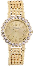 Timebre Majestic Women Gold Diamond Party Watch