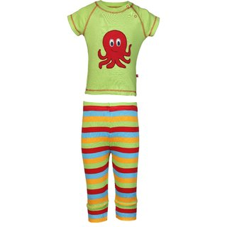 Nino Bambino Organic Cotton Boys Top And Bottom Set With Octopus Applique