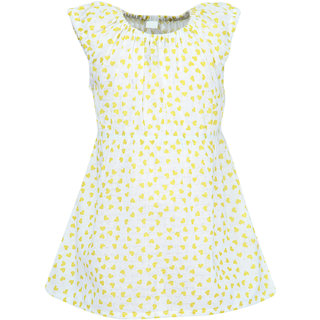 Nino Bambino Organic Cotton Baby Girls Organic Muslin Summer Dress With Heart Print