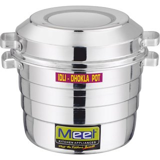 Meet Aluminium Idli Dhokla Cooker 4 Plates Idli Stand 2
