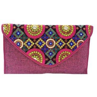 Maison Ethnic jute sling bag
