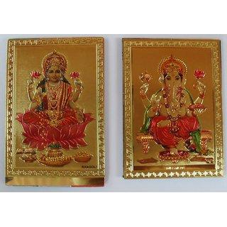 Laxmi Ganesh Magnet (5.5 X 7.5 CM)