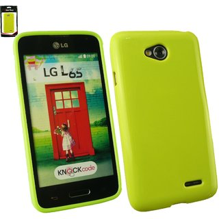 Emartbuy LG L65 Shiny Gloss Gel Skin Case Cover Green