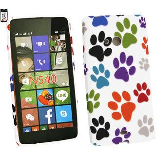 Emartbuy Microsoft Lumia 540 Dual Sim Gel Skin Case Cover Paws