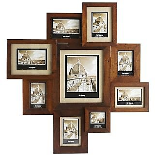collage photo frames brown colour