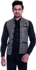 Calibro Grey Valvet Nehru Jacket