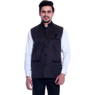 Calibro Violet Valvet Nehru Jacket