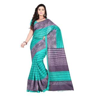 Aaina Green Bhagalpuri silk Printed Saree