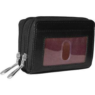 #LGW102BLK Ladies Formal Black Genuine Leather Wallet