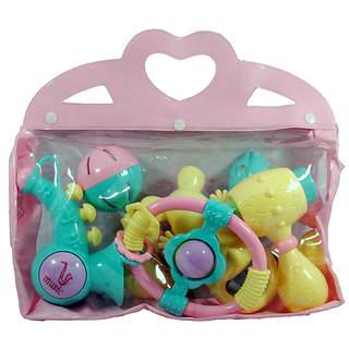 Toys 6Pcs Rattle Set in PVC Bag Rattle