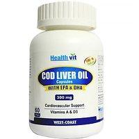 Healthvit Cod Liver Oil 300Mg 60 Softgel