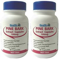 Healthvit Pine Bark 100Mg 60 Capsules (Pack Of 2)