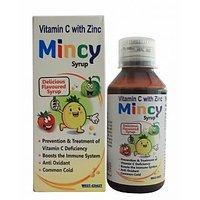 Westcoast Mincy Vitamin C With Zinc 100Ml Syrup - Pack