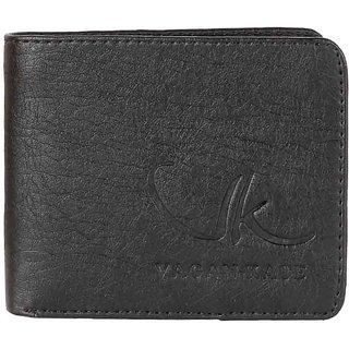 Vagan-kate black leather wallet for men