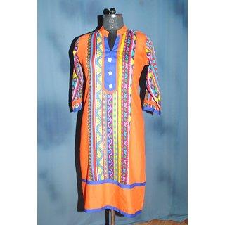 Rayon Cotton printed Kurti-Mohmmad Fashion