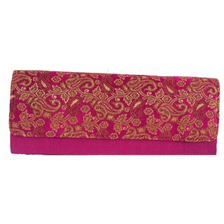 Maison Ethnic floral print clutch bag