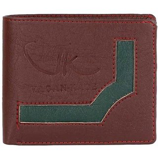 Vagan-kate brown leather wallet for men
