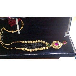 elegant kundan neckalace only neck wear
