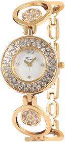 Timebre Quartz Analog White Round Dial Women's Watch TMLXGLD103