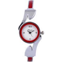 Timebre Round Dial Silver Metal Strap Women Quartz Watch