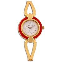 Timebre Fancy Women Red Gold Bracelet Watch