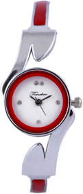 Timebre Round Dial Silver Metal Strap Women Quartz Watch