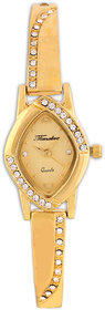 Timebre Oval Dial Golden Metal Strap Women Watch