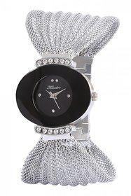 Timebre Nice-Looking Women Black Silver Bracelet Watch