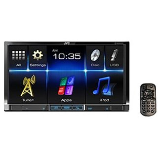 Jvc Kw-V41Bt Double Din Dvd/Cd/Usb Receiver With 7-Inches Wvga Touch Panel Monitor