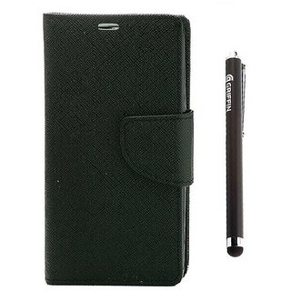 Ygs Diary Wallet Case Cover  For   Samsung Galaxy J2-Black  And Griffin Stylus Pen