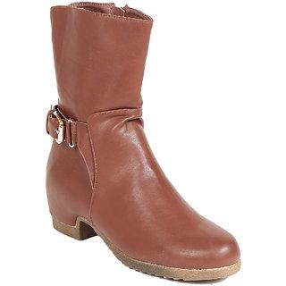 7aa4a9d58b08 TEN Pulchritudinous Womens Brown Mid Length Boots