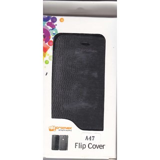 MICROMAX FLIP COVER  A47 black available at ShopClues for Rs.155