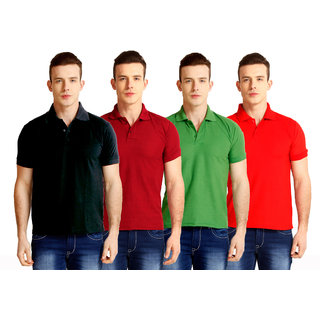 Baremoda Black Maroon Green Red Polo T Shirt