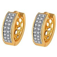 Enzy Gold Plated  Gold Hoops Earring For Women