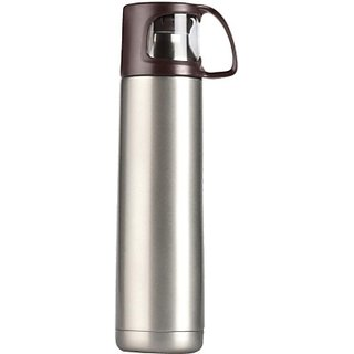 Vacuumized Travel 500 ml Flask (Pack of 1 Brown)