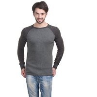 Stylogue Grey Cotton Blended Sweatshirt