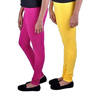 Womens Cottage Combo Pack of 2 Cotton Lycra Leggings