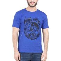 Tribal Bull Blue Mens T-shirt