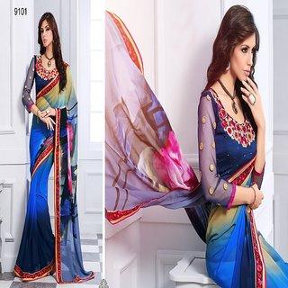 Digital Printed Georgette sarees