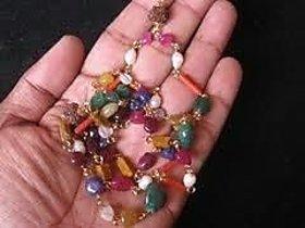 Astrology Goods Navratna Mala (natural Gemstone And Rudraksha) 6580