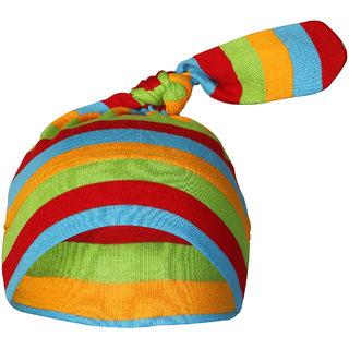 Nino Bambino Multi Color Organic Cotton Knotted Cap