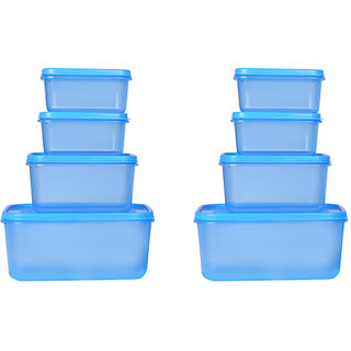 Ratan Plastics Vega Set of of 8 PieceS, Blue