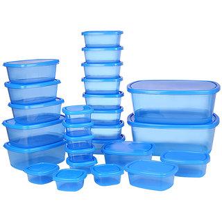 Ratan Plastics Silver Set of 26 Pieces, Blue