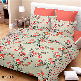 King Size Orange Cotton Bed Sheet (TSJ-12)